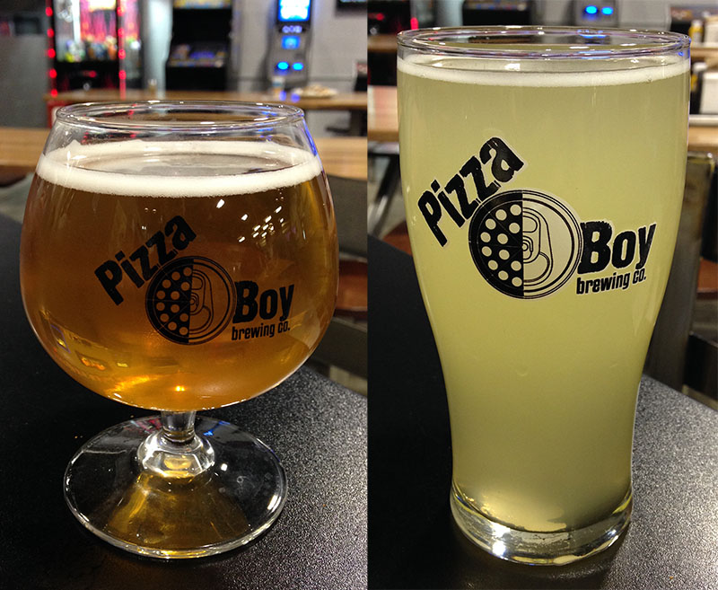 Weyerbacher's Tarte Neuvo (left) and Round Guy's Berliner Weisse (right)