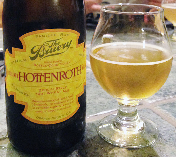 The Bruery's Hottenroth is an excellent example of a clean and sour Berliner Weisse suffering from none of the off-flavors discussed here.