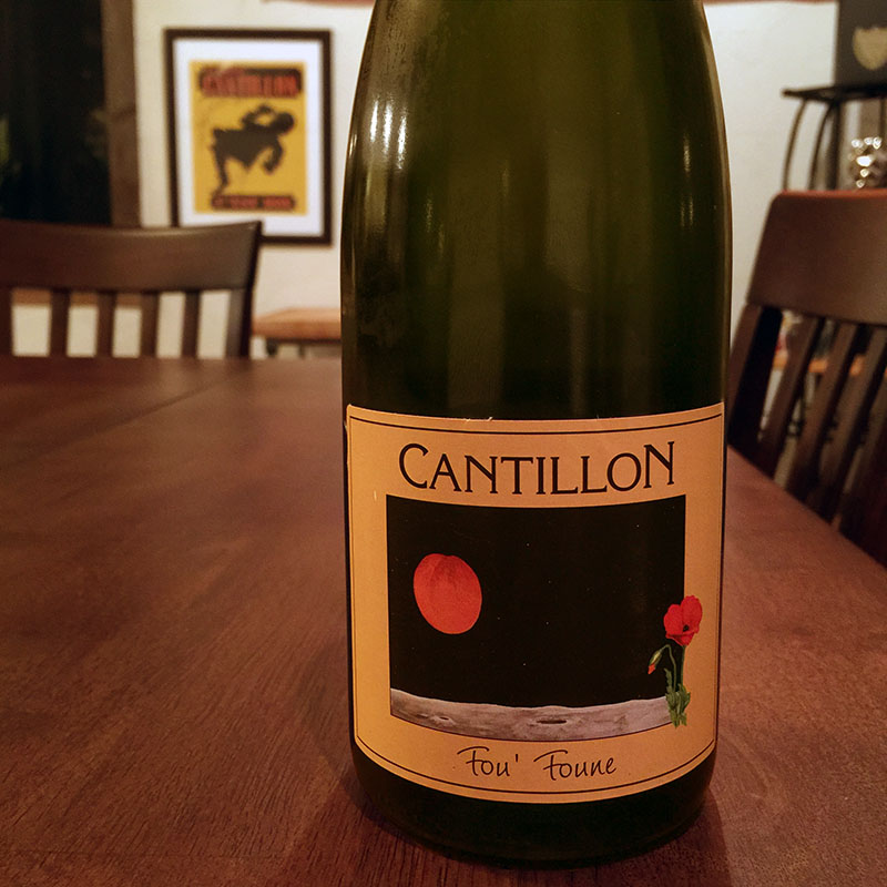 Cantillon Fou Foune at Café Bruges
