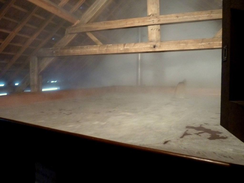 Wort Cooling in Cantillon's Coolship - Photo by Kevin Desmet @ Belgian Beer Geek