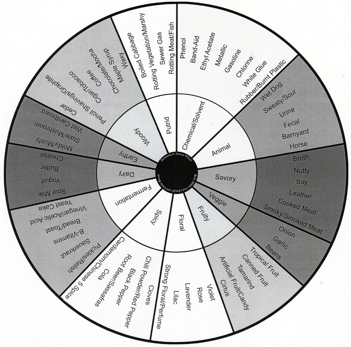 The Brettanomyces Flavor Wheel is a great reference to have available when tasting sour beers for the purpose of palate training.