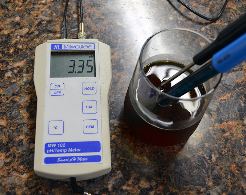 I personally use the Milwaukee MW102 pH meter with automatic temperature compensation. I find this to be an accurate, reliable, and easy to use meter.