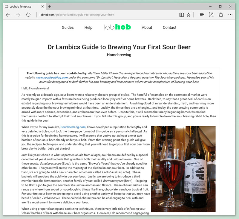 Dr Lambics Guide To Brewing Your First Sour Beer
